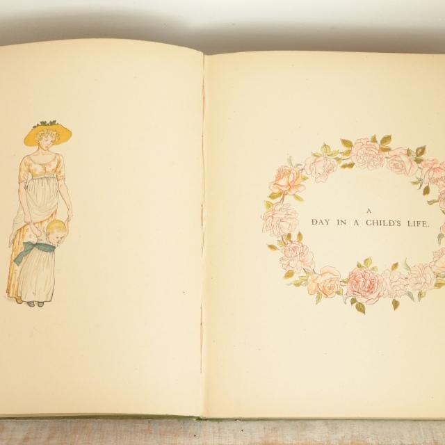ケイト・グリーナウェイ A DAY IN A CHILD'S LIIFE 初版本  Kate Greenaway