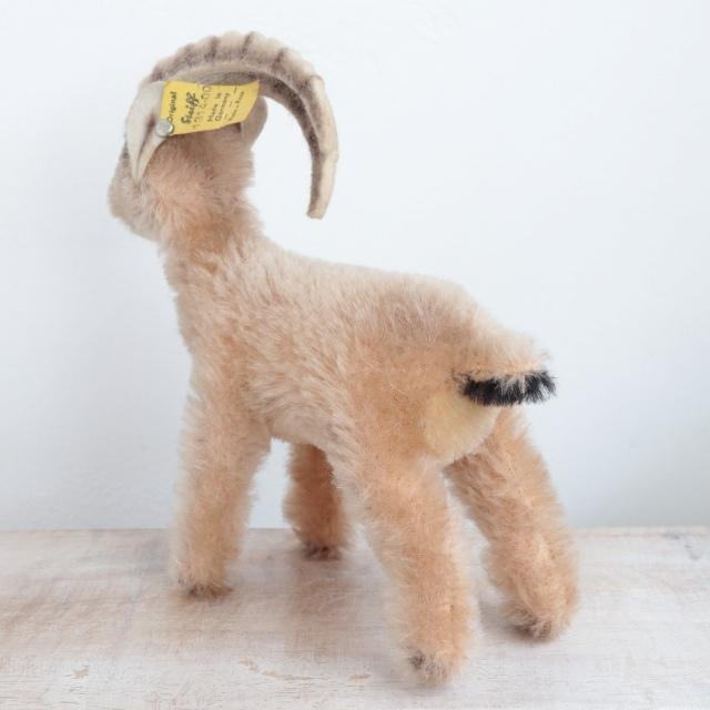 アンティーク シュタイフ 山羊 Steiff Rocky 14cm