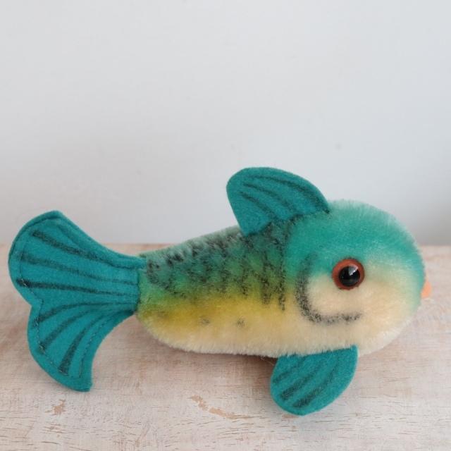 アンティーク シュタイフ 魚 Steiff Flossy 13cm