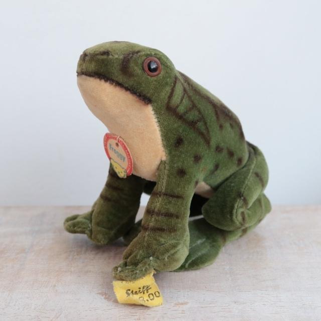アンティーク シュタイフ カエル Steiff Froggy 8cm