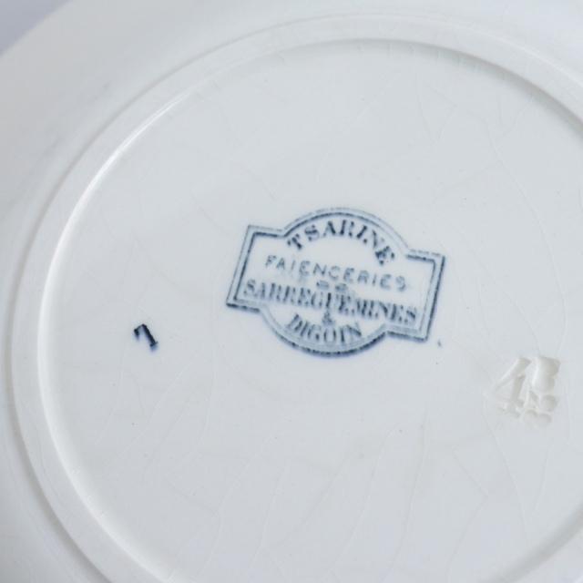 アンティークプレート 深皿 TSARINE フランス サルグミンヌ製 SARREGUEMINES & DIGOIN