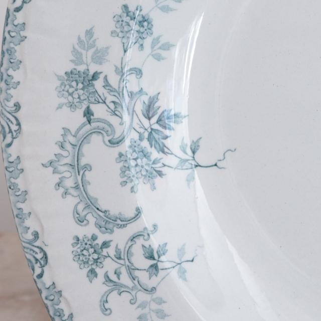 アンティーク ディナープレート VILLARS 深皿 フランス ショワジールロワ製 CHOISY LE ROI