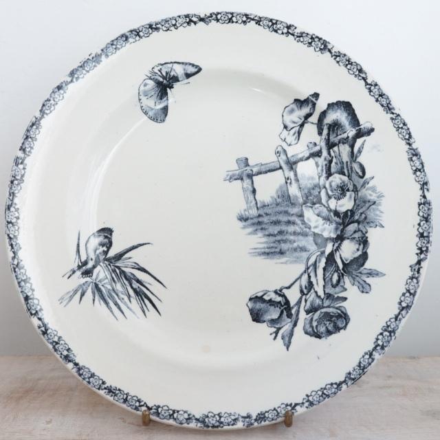 アンティークプレート 平皿 フランス エミールブルジョワ E.BOURGEOIS