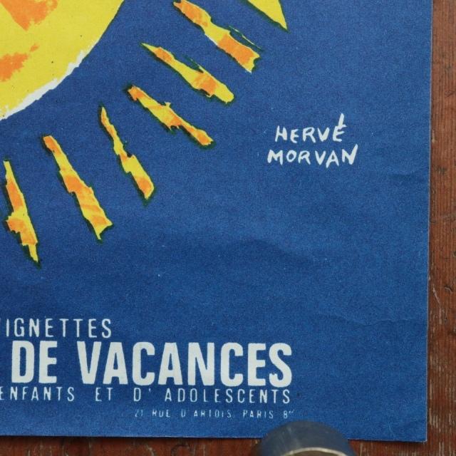 エルベ モルバン ビンテージポスター Jeunesse au plein air 1975年 Herve Morvan
