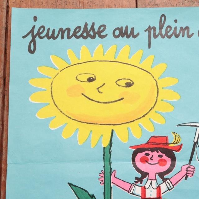 エルベ モルバン ビンテージポスター Jeunesse au plein air 1969年 Herve Morvan