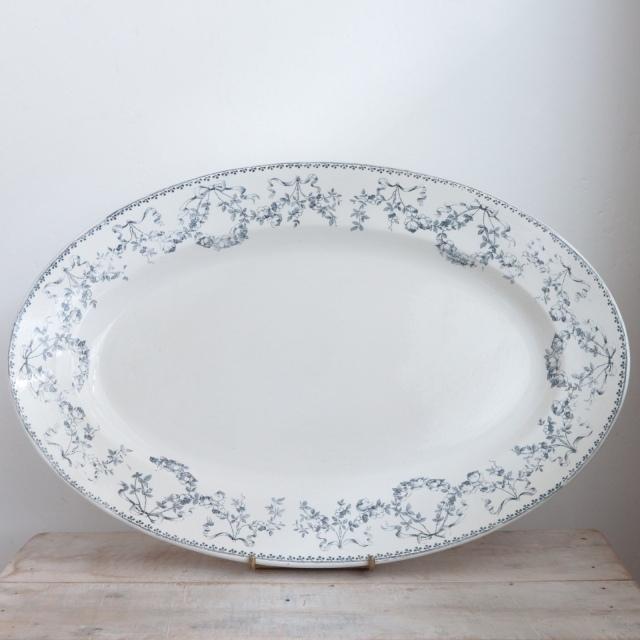 アンティーク オーバル皿 大皿 モーツァルト MOZART フランス サルグミンヌ製 U&C SARREGUEMINES