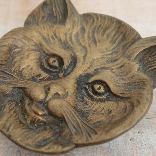 フランス アンティーク ネコの小物置き