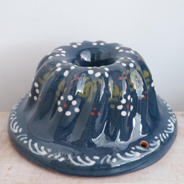 クグロフ型 アルザス地方 スフレンハイム焼き 陶器製 花柄 16cm Mサイズ