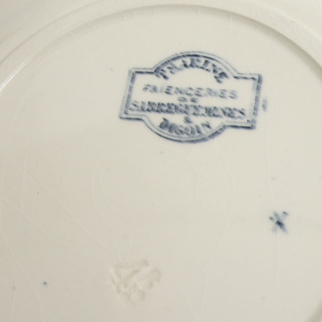 アンティークプレート 深皿 フランス サルグミンヌ製 TSARINE  SARREGUEMINES & DIGOIN