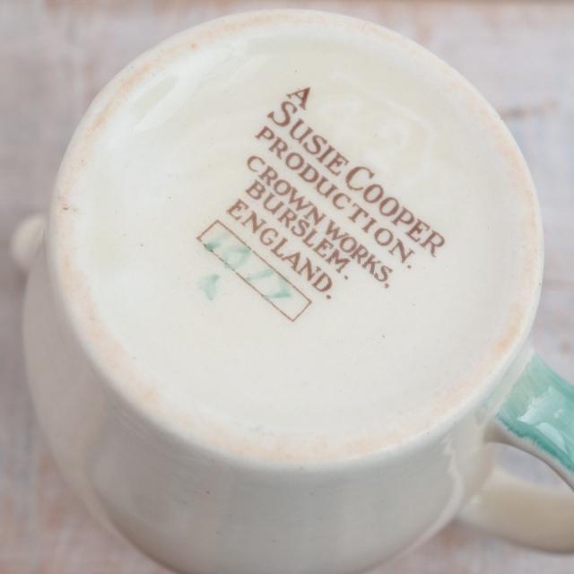 スージークーパー ドレスデンスプレイ グリーン ミルクジャグ SUSIE COOPER