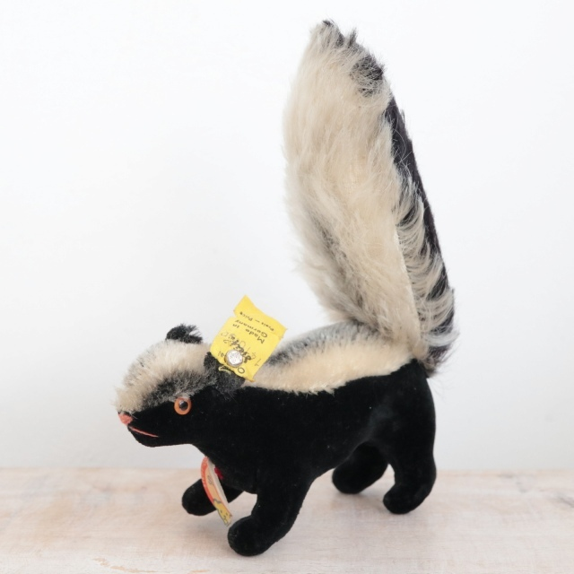 アンティーク シュタイフ スカンク Steiff Skunk 10cm