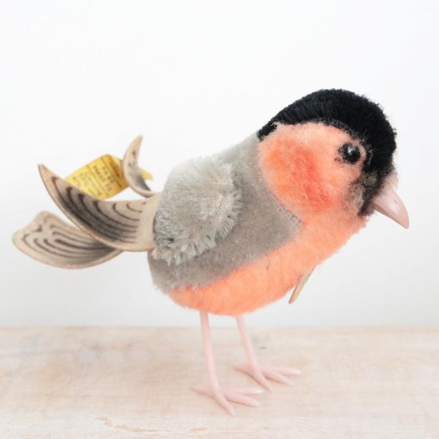 アンティーク シュタイフ 小鳥 ウソ 鷽 Steiff  Dompfaff 10cm