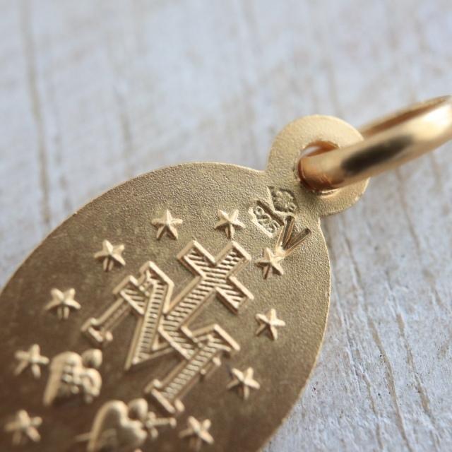 フランス製 不思議のメダイ 13mm ヴェルメイユ シルバーギルド スターリング シルバー925 銀+18金+24金