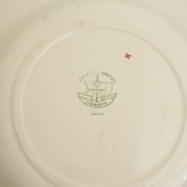 アンティーク プレート ブドウ アンティーク深皿  KANTARA フランス クレイユモントロー製 Creil Montereau