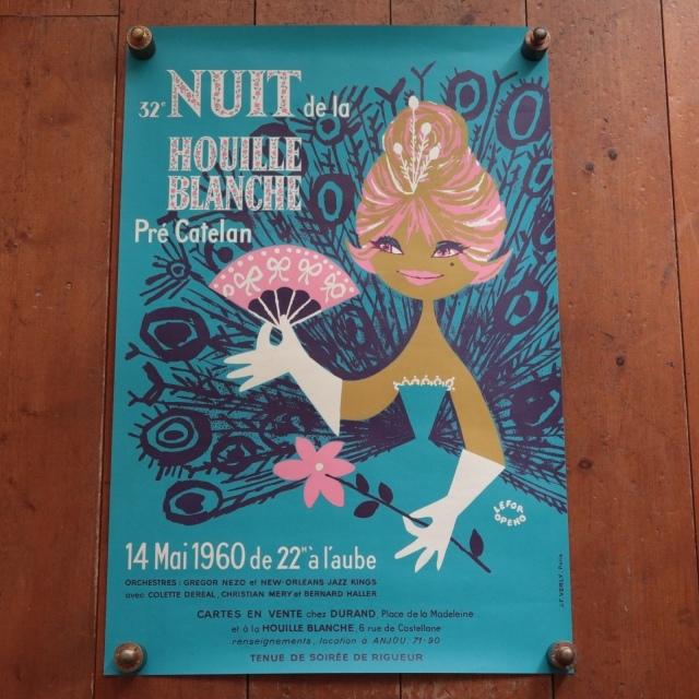 ルフォール・オプノ ヴィンテージポスター Lefor Openo NUIT HOUILLE BLANCHE