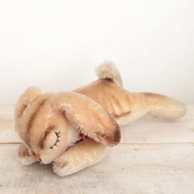 アンティーク シュタイフ お眠りウサギ Steiff Floppy Hansi 17cm