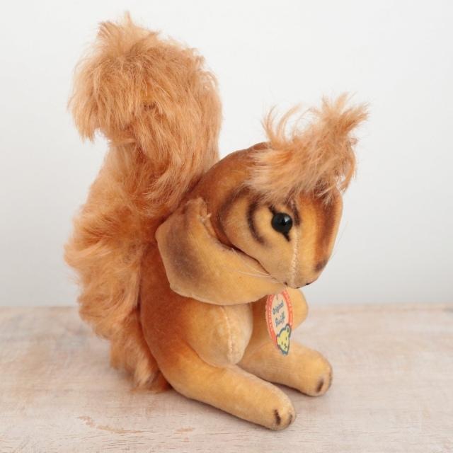 アンティーク シュタイフ リス ベルベット Steiff Squirrel 10cm
