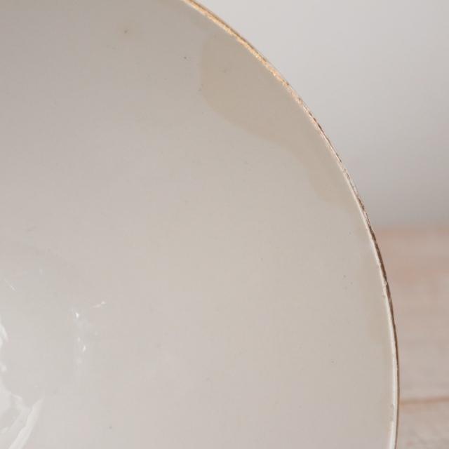 アンティーク カフェオレボウル イチゴ フランス サルグミンヌ製 U&C SARREGUEMINES DIGOIN