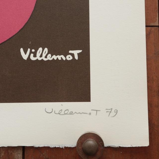 ヴェルナール・ヴィルモ コントレックス リトグラフ ビンテージポスター Bernard Villemot Contrex