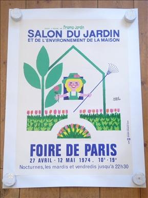 FOIRE DE PARIS 1974 ビンテージポスター