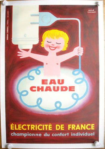 EAU CHAUDE ビンテージポスター
