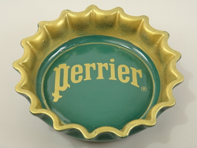 Perrier ペリエ ビンテージ灰皿 ゴールド