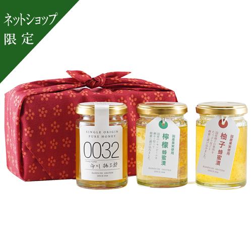【ネットショップ限定】母の日蜂蜜セット[風呂敷包]