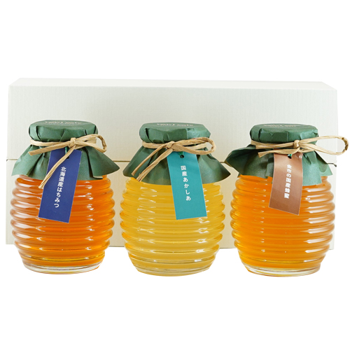 国産蜂蜜3種食べ比べセット