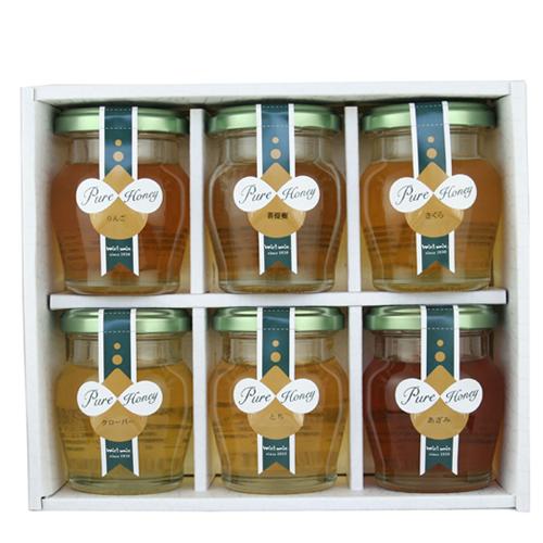 国産蜂蜜6本詰め合わせ