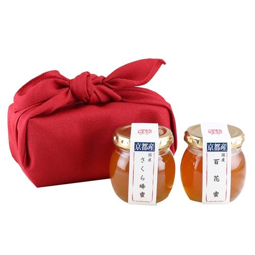 お試し蜂蜜セット(贈りたい蜂蜜)[風呂敷包]