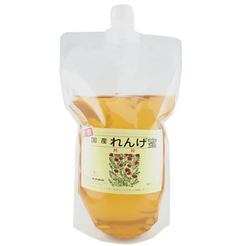 新蜜国産れんげ蜂蜜900g