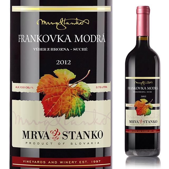【スロバキアワイン専門】ムルヴァさんのフランコフカ・モドラ 《Frankovka Modra》 【スロバキアワイン】赤・フルボディ【プレゼント包装可能/熨斗等の対応可能】