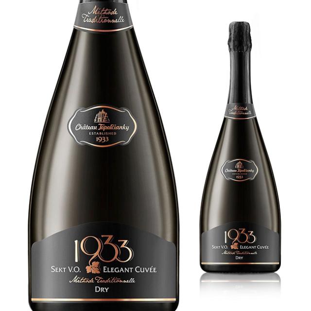 【再入荷/大人気スパークリング】【スロバキアワイン専門】シャトー・トポロチアンキー/セクト・1933・エレガントキュヴェ・ドライ 750ml 《Sekt・1933・Elegant・Cuvee・Dry》 [Topolcianky] 泡・中辛口【プレゼント包装可能】