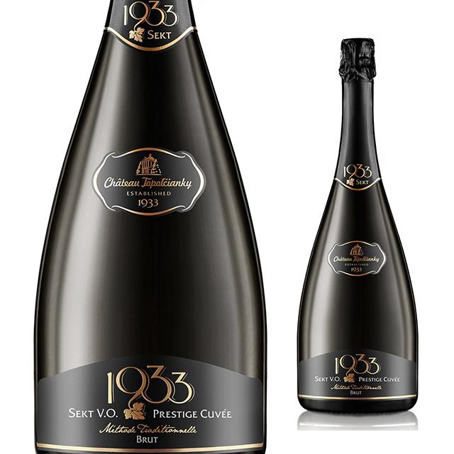 【再入荷/大人気スパークリング】【スロバキアワイン専門】シャトー・トポロチアンキー/セクト・1933・プレステージキュヴェ・ブリュット 750ml 《Sekt・1933・PrestageCuvee・Brut》 [Topolcianky] 泡・辛口【プレゼント包装可能】