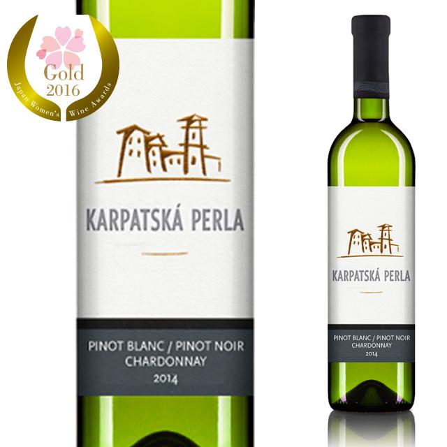 【スロバキア産】白ワイン ピノ・ブラン/ピノ・ノワール/シャルドネ 《Pinot Blanc/Pinot Noir/Chardonnay》  [Karpatska Perla] 750ml【プレゼント包装可能/熨斗等の対応可能】