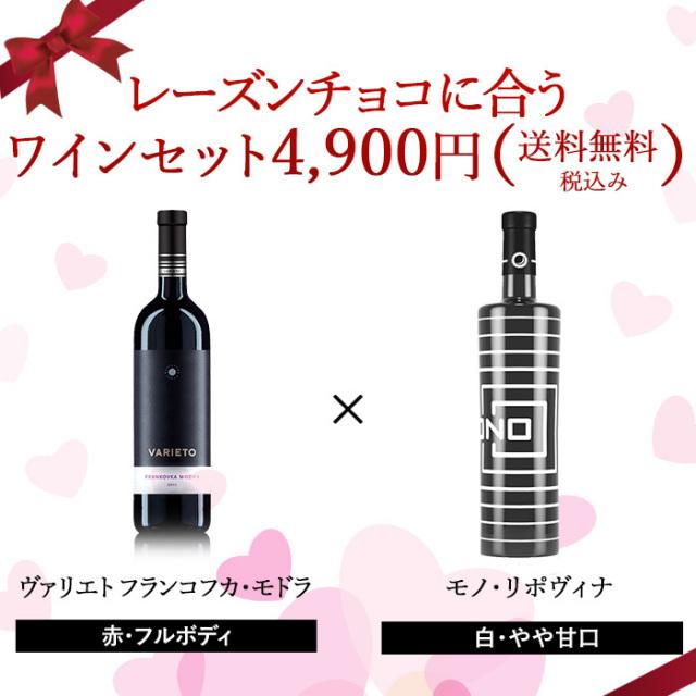 レーズンチョコに合うワインセット【送料無料・税込】