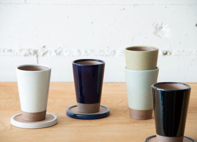 陶のビアカップ  - かもしか道具店 -