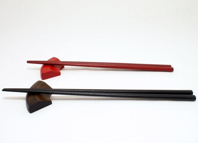蒔地仕上げの楕円箸 -輪島キリモト-