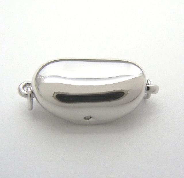 SVクラスプ【Sサイズ】 (留め具 金具 ビーンズクラスプ クラスップ パール 真珠 ネックレス 用)
