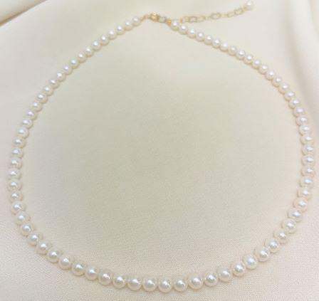 あこや真珠ネックレス 【4.5mm-5mm】 swv-2008 (あこや真珠 ベビーネックレス 本真珠 猫 ネコ アコヤ ネックレス)