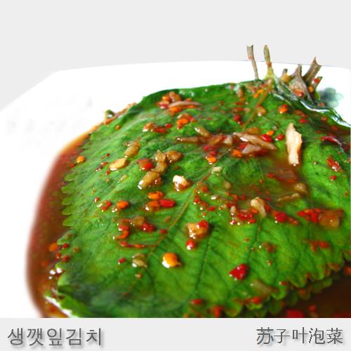 【三口一品】単品 エゴマの葉キムチ215g
