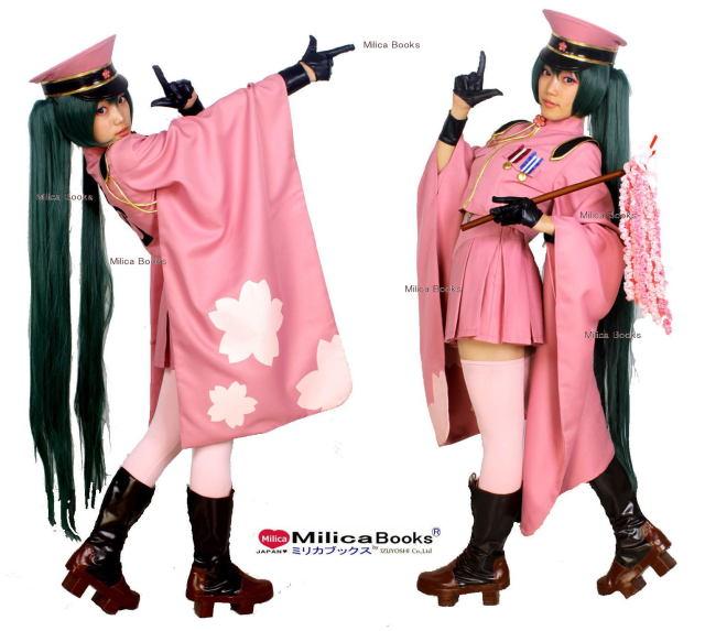 千本桜 初音ミク 振袖 軍帽付き フルセット