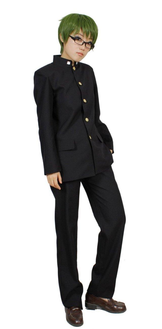 黒子のバスケ 秀徳高校 男子制服 コスプレ衣装 緑間真太郎 黒縁メガネ・テーピング おまけ