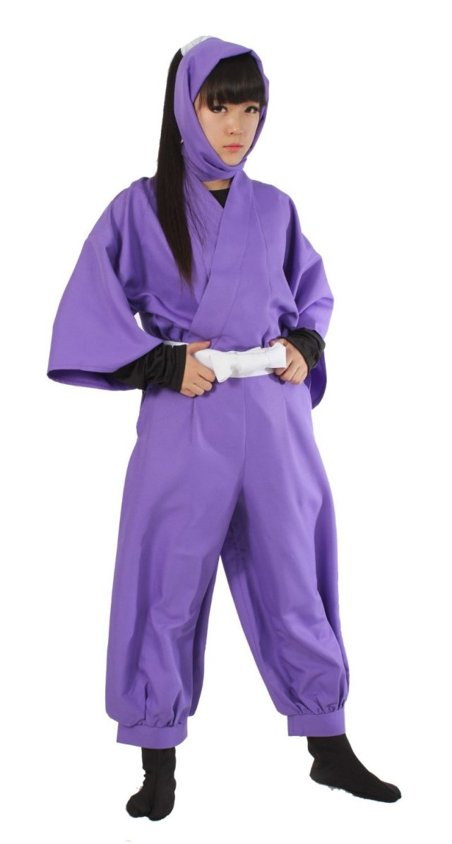 忍たま乱太郎 5年生 薄紫色 忍者 コスプレ衣装 セット