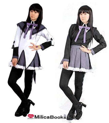 魔法少女 まどか☆マギカ 暁美ほむら 魔法少女 衣装  ソウルジェム付 8点セット