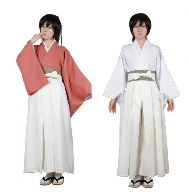 薄桜鬼 雪村千鶴 和服 和装 乗馬袴付き コスプレ衣装