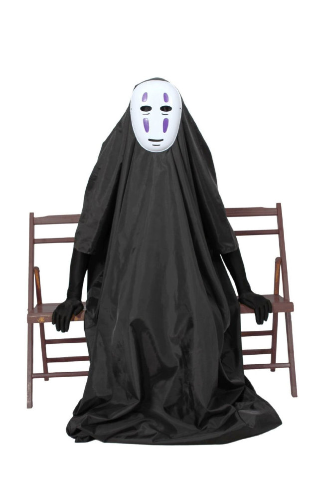 カオナシ 千と千尋の神隠し マスク&ロング手袋付き  コスプレ 衣装 フルセット