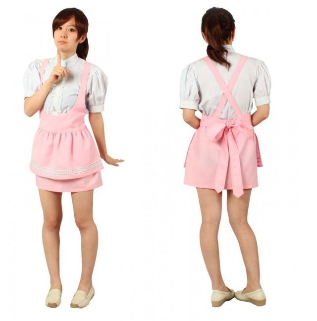 アンミラ 制服 コスプレ衣装セット  ピンク  ウエイトレス メイド服