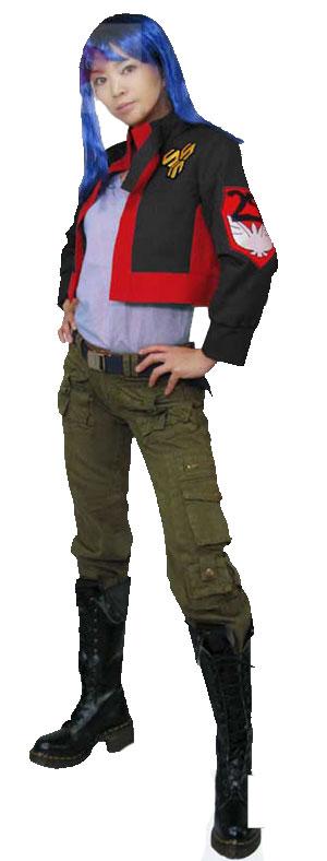 マクロスF SMS 隊服 コスプレ衣装  早乙女アルト 髪飾り付き
