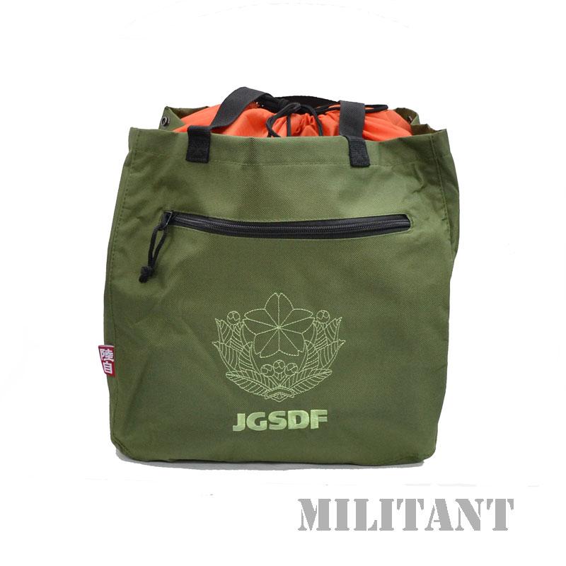 陸上自衛隊徽章 トートバッグ OD